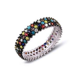 Inel din argint multicolor