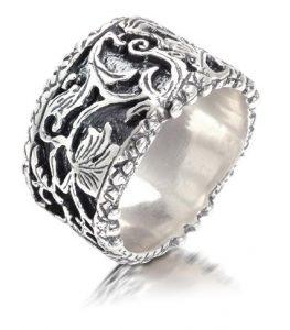 Inel de argint handmade Israel- aspect vintage