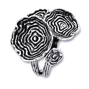 Inel de argint cu motive florale - handmade Israel