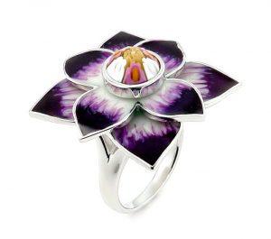 Inel-argint-rodiat-cu-murano-in-forma-de-floare-4243