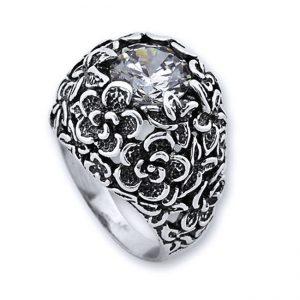 Bijuterii din argint unicat-inel flori Israel, model cu flori