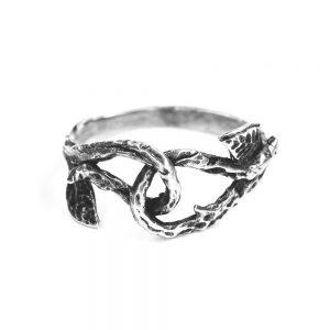 Inel-argint-simplu fara pietre -cu-frunze-si-aspect-vintage-9059