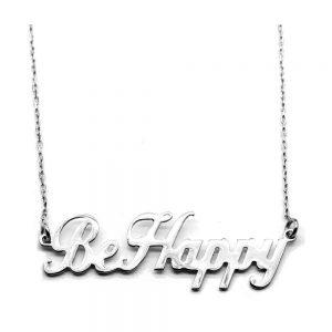 Colier din argint personalizat Be-Happy