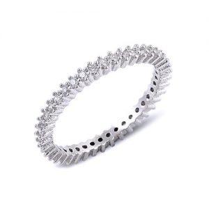 inel argint simplu si zirconii aspect verigheta