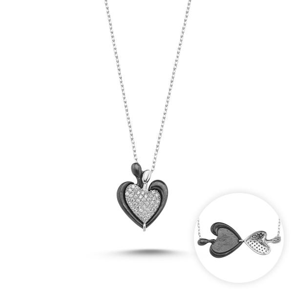 Colier argint 925 rodiat inimioara cu zirconii - Be in Love_CTU0018-9730-301299