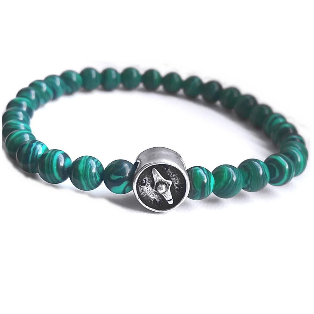bijuterii norocoase si pietre pentru zodia Capricorn - malachit si argint
